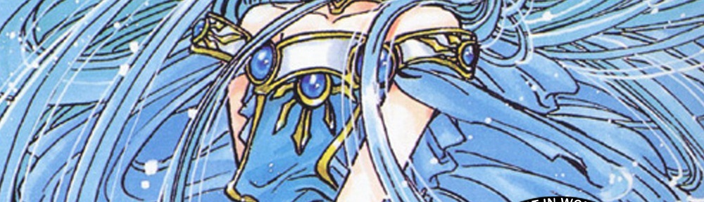 CLAMP art of Umi, very blue and magical, with the CLAMPcast logo and the episode title overlayed.