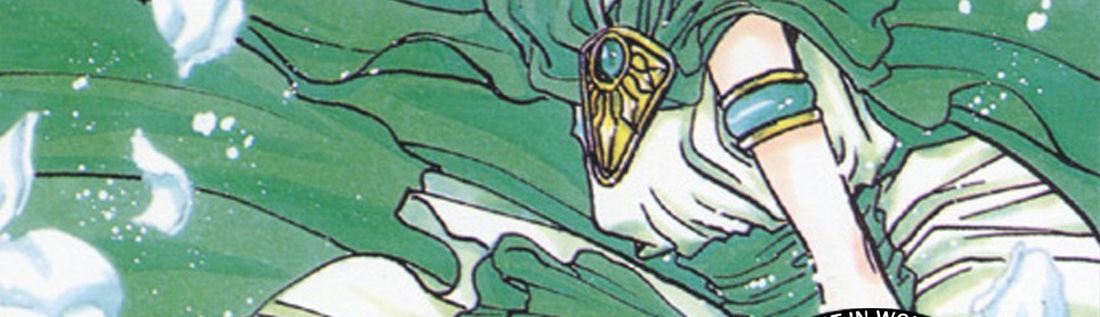An illustration of Fuu, by CLAMP, with episode title text and the CLAMPcast logo overlayed.
